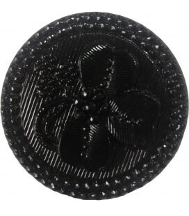Botón de Cristal - 2,7cm - Color negro - (bolsa de 24 uds.)