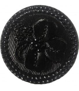 Botón de Cristal - 12cm - Color negro