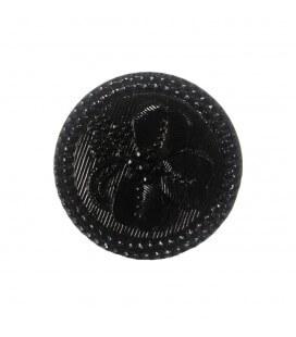 Botón de Cristal - 1,9cm - Color negro - (bolsa de 36 uds.)