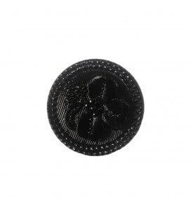 Botón de Cristal - 6cm - Color negro