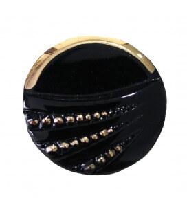 Botón de Cristal - 8cm - Color negro