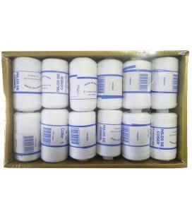 Caja 12 uds. Hilo 100% Poliester - Color blanco