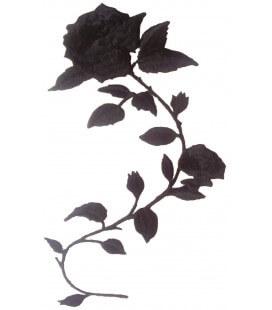 Rose thermoadhesive Aufkleber - 2 Einheiten