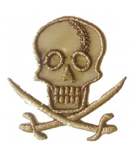 Autocollant Thermoadhésif Skull Pirate - 6 unités