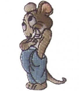 Pegatina Termoadhesiva Ratón - 6 unidades