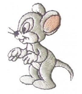 Pegatina Termoadhesiva Ratón de perfil - 6 unidades