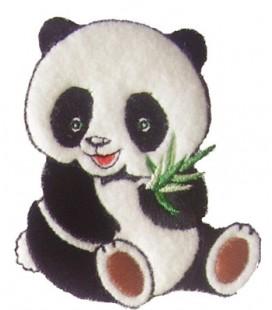 Pegatina Termoadhesiva Oso Panda - 3 unidades
