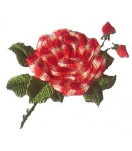 Pegatina Termoadhesiva Rosa con capullos - 6 unidades - 2 Colores
