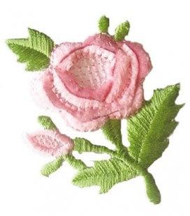 Pegatina Termoadhesiva Rosa con capullo - 6 unidades - 2 Colores