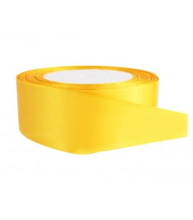 Double Side Satin Ribbon - 39mm - Roll 25 meters - Yellow