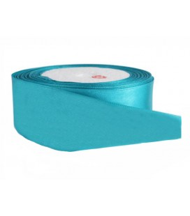 Double Side Satin Ribbon - 39mm - 25 meter Roll - Turquoise Color