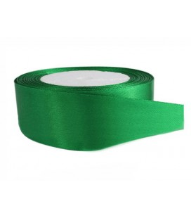 Double Side Satin Ribbon - 39mm - Roll 25 meters - Emerald Green