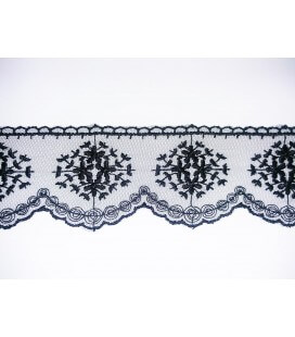 Embroidered Tulle - Width 5cm - Piece 8 meters - 2 colors