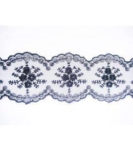 Tul Bordado - Ancho 4cm - Pieza 9 metros - 2 colores
