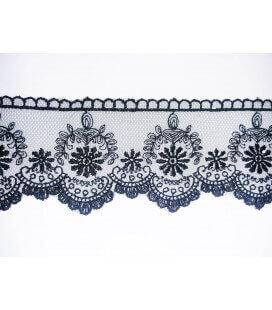 Tul Bordado - Ancho 7cm - Pieza 9 metros - 2 colores