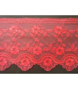 Tulle brodé - Largeur 12,5 cm - Pièce 8 mètres - 4 couleurs