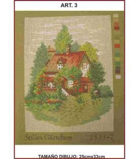 Cañamazo Tapestry - Nº 3 - 25cm x 33cm