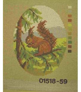 Tapiz Cañamazo - Nº 48 - 15cm x 20cm