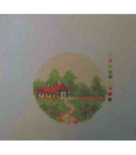 Cañamazo Tapestry - Nº 52 - 9 cm diameter