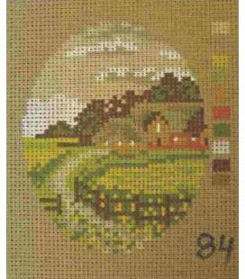 Cañamazo Tapestry - Nº 84 - 11cm x 13cm