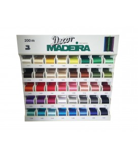 Decor No. 6 Maderia display case - 200 reels in 40 colors.
