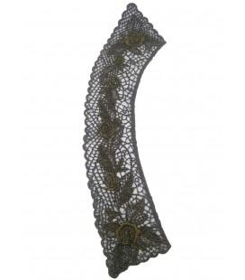 Guipure-Kragen schwarz / gold