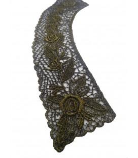 Cuello Guipur negro/oro