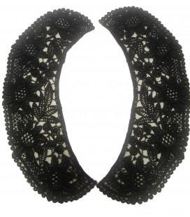 Cuello Guipur negro - 10 unidades