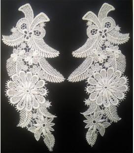 Cuello Guipur color blanco - 10 unidades
