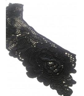 Cuello Guipur color negro - 10 unidades