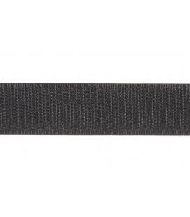 Klettverschluss 2cm - Schwarz Farbe EINE SEITE (ROBUST)