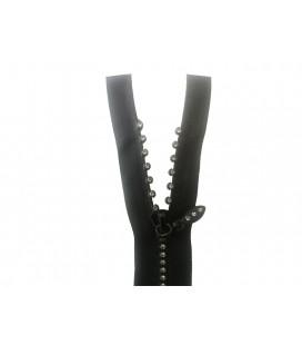 Fermeture à glissière Fantasy avec séparateur - 40cm - Couleur noire - 25 et 100 pcs.