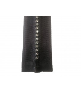 Fancy zipper with separator - 40cm - Black