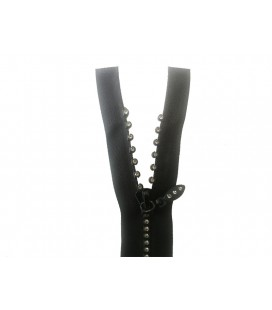 Fantasy zipper with separator - 60cm - Color black - 25 and 100 pcs.