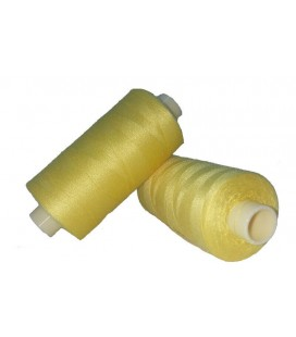 Hilo Poliester 1000m - Caja de 6 uds. - Color Amarillo Pollo