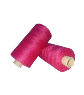 Polyester thread 1000m - Box of 6 pcs. - Fuchsia color