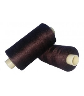 Polyester thread 1000m - Box of 6 pcs. - Brown color