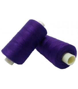 Polyester thread 1000m - Box of 6 pcs. - Purple