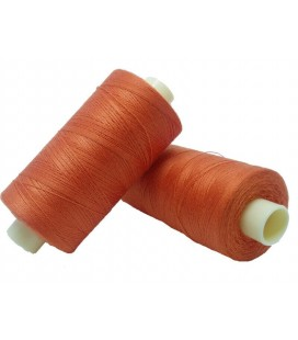 Fil polyester 1000m - Boîte de 6 pièces - Orange