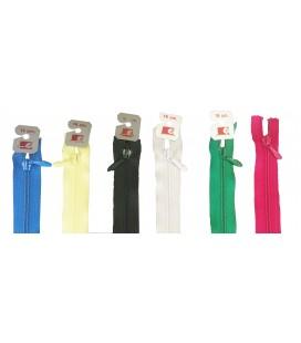 20 paquetes de 10 unidades cremallera de 18cm en colores variados (200 unidades en total)