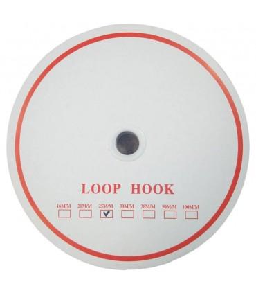 Velcro Adhesivo 2cm - Color Negro (CARA SUAVE)