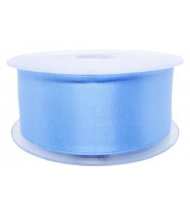 Ruban Satin Double Face - 39mm - Rouleau 25 mètres - Bleu clair