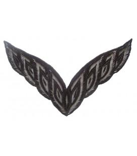 Applikation von Pailletten - 22,5 x 7 cm - Farbe schwarz