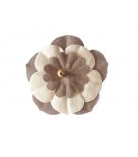 Fleur Napa - 6,4 x 4,2 cm - Sac 6 unités - Disponible en 3 couleurs