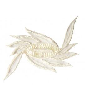 Sequin appliqué - 17 x 11 cm - White color