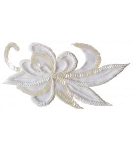 Sequin appliqué - 18,5 x 10 cm - White color