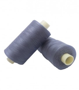 Polyester thread 1000m - Box of 6 pcs. - Gray