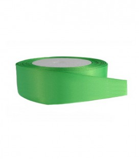 Satin Double Face Tape - 25mm - Roll 25 meters - Color Green Andalusia