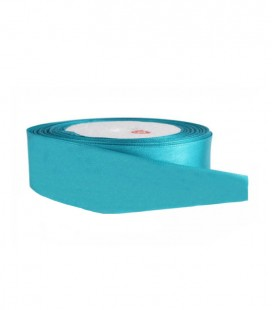 Double Side Satin Ribbon - 25mm - 25 meter Roll - Turquoise Color