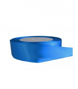 Double Side Satinband - 25mm - 25 Meter Rolle - Blaue Farbe